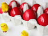 Traditional Red Easter Eggs